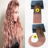 14-24 Brazilian Remy Hair Ombre Balayage Color 100G/Set Full Set Hair Weft Extensions 100% Human Hair