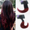 Straight Hair 14-24 7Pcs 120gram Ombre Color #1B#99J Brazilian Remy Hair Extensions Full Set Cilp On Hair Extensions Free Shippin free shipping remy clip in hair extensions brazilian virgin straight hair color 1b huaman hair clip on full head 8pcs set