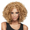 Dalin Curly Wig Heat Resistant Fiber Synthetic Wigs Two Tone Brown and #27 100% Heat Resistant Fiber Kinky Curly Free Style 300g 1 new arrival straight bob lace front wigs for black women dark roots synthetic hair wig heat resistant fiber free shipping