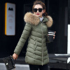 2017 New Winter Women's Coat Long Cotton Big Fur Collar Coat Padded Down Jacket great spaces home extensions лучшие пристройки к дому