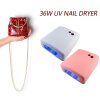 UV Lamp 818 Dryer Nail 36W Nail Gel Lamp Mini Lamp For Nails Manicure Machine UV Gel LED Nail Dryers Lamps EU Plug 3 x 12W Power kangtuo kt 906 9w nail art gel curing uv lamp white 2 round pin plug 120cm cable