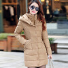 2017 New Winter Coat Long Thick Cotton Padded Jacket Warm Cotton Slim Down Jackets 2017 men down jacket winter warm collar fur trim hood coat outwear puffer down cotton long jacket clothes thick canada cheap top