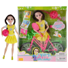 Abbie Lens Eyes with 3D Curl Eyelashes Doll Toys Clothes Gown Outfits and Shoes for Girl's Birthday Party Christmas Gift