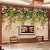 Пользовательские обои Mural Green Vine Butterfly Rose Flower Wood Board Заставка Украшение Живопись Mural Living Room TV Wall Paper beibehang living room bedroom wallpaper solid color nonwovens vertical striped green wall paper home decor papel de parede