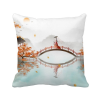 Jincheng Autumn Chinese Style Watercolor Polyester Toss Throw Pillow Square Cushion Gift snowman cartoon christmas cushion throw pillow case
