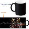 Guns and Rose 350ml/12oz Heat Reveal Mug Color Change Coffee Cup Sensitive Morphing Mugs Magic Mug Milk Tea Cups automatic food processors coffee mixing cup mug blew stainless steel self stirring electric coffee mug 350ml six color h 025
