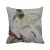 Beauty Folding Fan Chinese Painting Polyester Toss Throw Pillow Square Cushion Gift 8pk aqua kem toss in