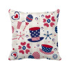 USA Hat Drink Love Heart Firework Festival Square Throw Pillow Insert Cushion Cover Home Sofa Decor Gift letters cotton linen throw pillow case square waist sofa bed cushion cover home decor