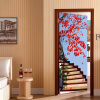 3D Stereo Stairs Red Tree Photo Wallpaper Living Room Study Классический домашний декор Настенный наклейка Mural PVC Wallpapers Papel 77cmx200cm 3d murals wallpaper for living room abstract tree image wall living 3d wallpaper 3d bathroom wallpaper
