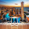 Дубай City Night View Mural Обои Custom Wall Painting Papel Pintado Living Room TV Background Фото Обои для рабочего стола Rolls 3D
