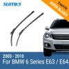 SUMKS Wiper Blades for BMW 6 Series E63 / E64 24&23 Fit Pinch Tab Arms 2003 2004 2005 2006 2007 2008 2009 2010 wiper blades for bmw 3 series f90 f91 24