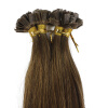 1g/s 100g Peruvian Remy Hair Color Golden Brown Straight Custom Capsule Keratin Flat Tip Nail U Fusion Full Human Hair Extension 1g s 100g human remy hair 8 light brown straight custom capsule keratin stick i tip fusion full human hair extensions