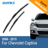 SUMKS Wiper Blades for Chevrolet Captiva 24&16 Fit Hook Arms 2006 2007 2008 2009 2010 2011 2012 2013 2014 2015 for kawasaki zx10r 2006 2015 2007 2008 2009 2010 2011 2012 2013 2014 red