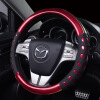 High-Grade Durable Leatherette Material And Slip Resistance Universal Steering Wheel Cover runba ice silk steering wheel cover sets with red thread