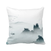 Landscape Color Chinese Style Watercolor Polyester Toss Throw Pillow Square Cushion Gift merry christmas grass cushion throw pillow case