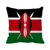 Kenya National Flag Africa Country Square Throw Pillow Insert Cushion Cover Home Sofa Decor Gift tfs cotton linen leaning cushion covers square 17 7 17 7 throw pillow case colored fish