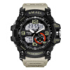 Military Watches Army Men's Wristwatch LED Quartz Watch Digtial Dual Time Men Clock 1617 reloj hombre Sport Watch Army 2016 hot brand gimto quartz digital sports watches men leather nylon led military army waterproof diving wristwatch reloj hombre