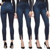 S - XXL 2018 Skinny Slim High Waist Pencil Pants Women Stretch Sexy Denim Jeans Bodycon Leg Split Trousers summer women stretch slim pencil pants full length sexy ripped hole skinny high waist trousers plus size pantalon femme page 2