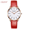 Ультра тонкие кварцевые наручные часы OLEVS Luxury Brand Men Watch Кожаный ремешок Casual Простые часы erkek kol saati relojes hombre yazole top brand luxury wrist watch men watch waterproof watches men s watch clock saat erkek kol saati relogio masculino