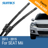 SUMKS Wiper Blades for SEAT Mii 24&16 Fit Hook Arms 2011 2012 2013 2014 2015 free shipping waterproof wearable fiber leather car floor mat for seat leon mk3 2012 2013 2014 2015 2016 2017