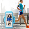 Mzxtby 5.5 inch Phone Waterproof Sport Armband Arm Band Belt Cover Running GYM Phone Bag Case For iPhone for samsung Huawei xiaomi waterproof armband bag case w compass for iphone 5 blue