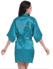 Короткая невеста Robe Bridemaid Silk Satin Kimono dressing Gown Sleepwear Халат