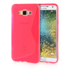 MOONCASE S - Line Soft Flexible Silicone Gel TPU Skin Shell Back ЧЕХОЛ ДЛЯ Samsung Galaxy E7 Hot pink mooncase transparent soft flexible silicone gel tpu skin shell back чехол для samsung galaxy a3 hot pink