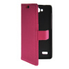 MOONCASE Slim Leather Side Flip Wallet Card Slot Pouch with Kickstand Shell Back чехол для Huawei Honor Holly Hot pink mooncase чехол для sony xperia m4 aqua wallet card slot with kickstand flip leather back hot pink