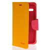 MOONCASE Classic cross pattern Leather Side Flip Wallet Card Pouch Stand Soft Shell Back чехол для Motorola Moto G Yellow luxury stand flip