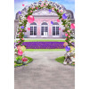 Happy Gate Background 5 * 7FT Vinyl Fabric Cloth Цифровая печать Photo Studio Backdrop S-3054 customize washable wrinkle free rococo handpainted style floral photography backdrop for photo studio portrait background s 1259