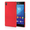 MOONCASE Hard Rubberized Rubber Coating Devise Back ЧЕХОЛДЛЯ Sony Xperia Z4 Red чехол для sony xperia z4 compact deppa air case red
