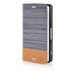 MOONCASE Canvas Design Leather Side Flip Pouch Stand Shell Back ЧЕХОЛ ДЛЯ Sony Xperia Z3 Compact ( Z3 Mini ) Dark Brown mooncase canvas design leather side flip wallet pouch stand shell back чехол для sony xperia z3 dark blue