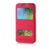 MOONCASE View Window High grade Leather Side Flip Pouch Stand Shell Back ЧЕХОЛДЛЯ Samsung Galaxy E5 / E500 Hot pink mooncase view window high grade leather side flip pouch stand shell back чехолдля samsung galaxy e5 e500 hot pink
