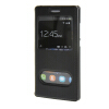 MOONCASE Huawei Ascend P8 Lite чехол Double Window View Leather Flip Bracket Back чехол Cover Black 01 mooncase чехол для huawei ascend p8 lite view window leather flip bracket back cover wine 01