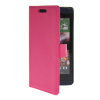 MOONCASE Slim Leather Flip Wallet Card Pouch with Kickstand Shell Back ЧЕХОЛ ДЛЯ HTC Desire 610 Hot pink