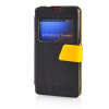 MOONCASE View Window Leather Side Flip Pouch Ultra Slim Shell Back ЧЕХОЛ ДЛЯ Sony Xperia Z1 Compact (Z1 Mini ) Black