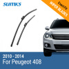 SUMKS Wiper Blades for Peugeot 408 30&26 Fit Push Button Arms 2010 2011 2012 2013 2014