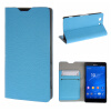 MOONCASE Sony Xperia Z3 Compact ( Z3 Mini ) ЧЕХОЛ ДЛЯ Flip Leather Wallet Card Holder Bracket Back Pouch Blue mooncase sony xperia z3 compact z3 mini чехол для flip leather wallet card holder bracket back pouch red