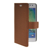 MOONCASE Slim Leather Side Flip Wallet Card Slot Pouch with Kickstand Shell Back чехол для Samsung Galaxy A3 Brown mooncase slim leather side flip wallet card slot pouch with kickstand shell back чехол для samsung galaxy a3 sapphire