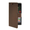 MOONCASE Slim Leather Side Flip Wallet Card Slot Pouch Stand Shell Back ЧЕХОЛДЛЯ Nokia Lumia 830 Coffee mooncase slim leather side flip wallet card slot pouch with kickstand shell back чехол для nokia lumia 535 white