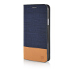 MOONCASE Canvas Design Leather Side Flip Wallet Pouch Stand Shell Back ЧЕХОЛ ДЛЯ Samsung Galaxy E5 Dark Blue mooncase canvas design leather side flip wallet pouch stand shell back чехол для samsung galaxy note edge n9150 dark blue