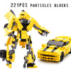 2018 New Transformers building blocks Bumblebee Optimus Prime Puzzle assembled toys Gifts for children enlighten military educational building blocks toys for children gifts army jeep aircraft stuka moto gun world war hero weapon