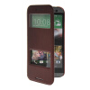 MOONCASE View Window Leather Side Flip Pouch Stand Shell Back ЧЕХОЛДЛЯ HTC One 2 (M8) Red mooncase view window leather side flip pouch ultra slim shell back чехолдля htc desire 516 d516w red