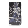 MOONCASE Flower style Leather Side Flip Wallet Card Slot Stand Pouch ЧЕХОЛДЛЯ Samsung Galaxy S6 Edge luxury stand flip