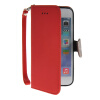 MOONCASE Litch Skin Leather Side Flip Wallet Card Slot Pouch Stand Shell Back ЧЕХОЛДЛЯ Apple iPhone 6 ( 4.7 inch ) Red