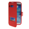 MOONCASE View Window Leather Side Flip Pouch Stand Shell Back ЧЕХОЛДЛЯ Samsung Galaxy S4 I9500 Red protective s style back case w stand for samsung galaxy s4 i9500 black transparent