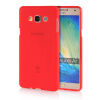 MOONCASE Transparent Soft Flexible Silicone Gel TPU Skin Shell Back ЧЕХОЛДЛЯ Samsung Galaxy A7 Red embossed tpu gel shell for ipod touch 5 6 girl in red dress