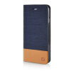 MOONCASE Canvas Design Leather Side Flip Wallet Pouch Stand Shell Back ЧЕХОЛДЛЯ Apple iPhone 6 ( 4.7 inch ) Dark Blue mooncase canvas design leather side flip wallet stand shell back чехолдля apple iphone 6 plus 5 5 inch light brown