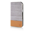 MOONCASE Canvas Design Leather Side Flip Wallet Pouch Stand Shell Back ЧЕХОЛ ДЛЯ Samsung Galaxy J1 Light Brown mooncase soft silicone gel side flip pouch hard shell back чехол для samsung galaxy s6 grey