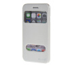 MOONCASE Apple iPhone 6 ( 4.7 inch ) чехол Double Window View Leather Flip Bracket Back чехол Cover White roar korea noble leather view window cover for iphone 7 4 7 inch rose